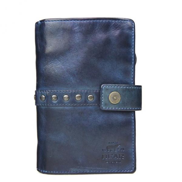 Bear Design Ritsportemonnee CL 15882 Blauw