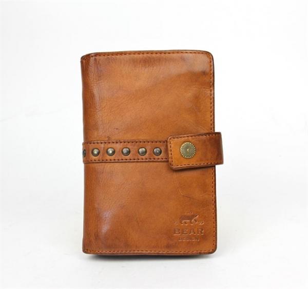 Bear Design Portemonnee Dames.Bear Design Dames Portemonnee Studs Cognac Cl 15087 Bags2buy Nl