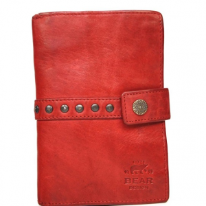 1f2c9d83854 ... Bear Design Dames portemonnee 'Studs' - rood CL 15087 ...